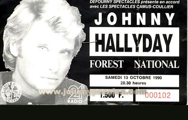 Quelques photos de billets de concert de Johnny Bill110