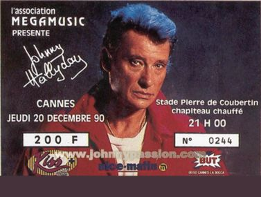 Quelques photos de billets de concert de Johnny Bill410