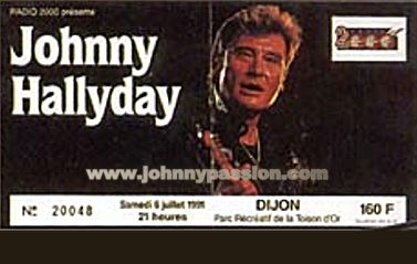 Quelques photos de billets de concert de Johnny Bill510