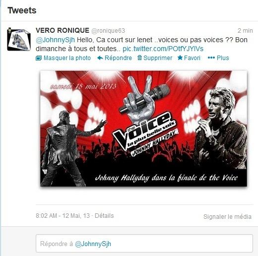 Appel à temoins..Voice ou pas Voice pour Johnny Captur18