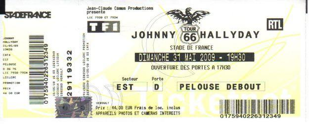 Quelques photos de billets de concert de Johnny Stade_11