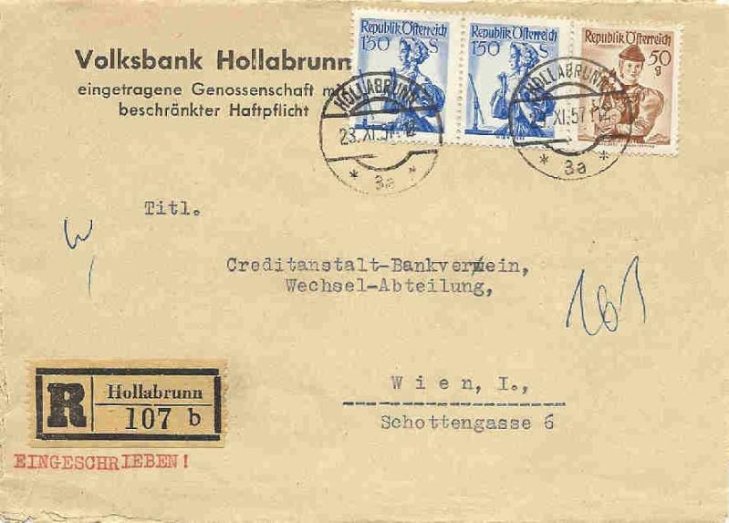 Briefe / Poststücke österreichischer Banken Bank_t10