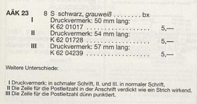 Drucksorten der Post - Nachsendungsantrag Druckv10