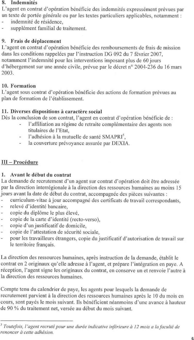 Projet de circulaire d'application interne à l'Inrap du CDO Circul15