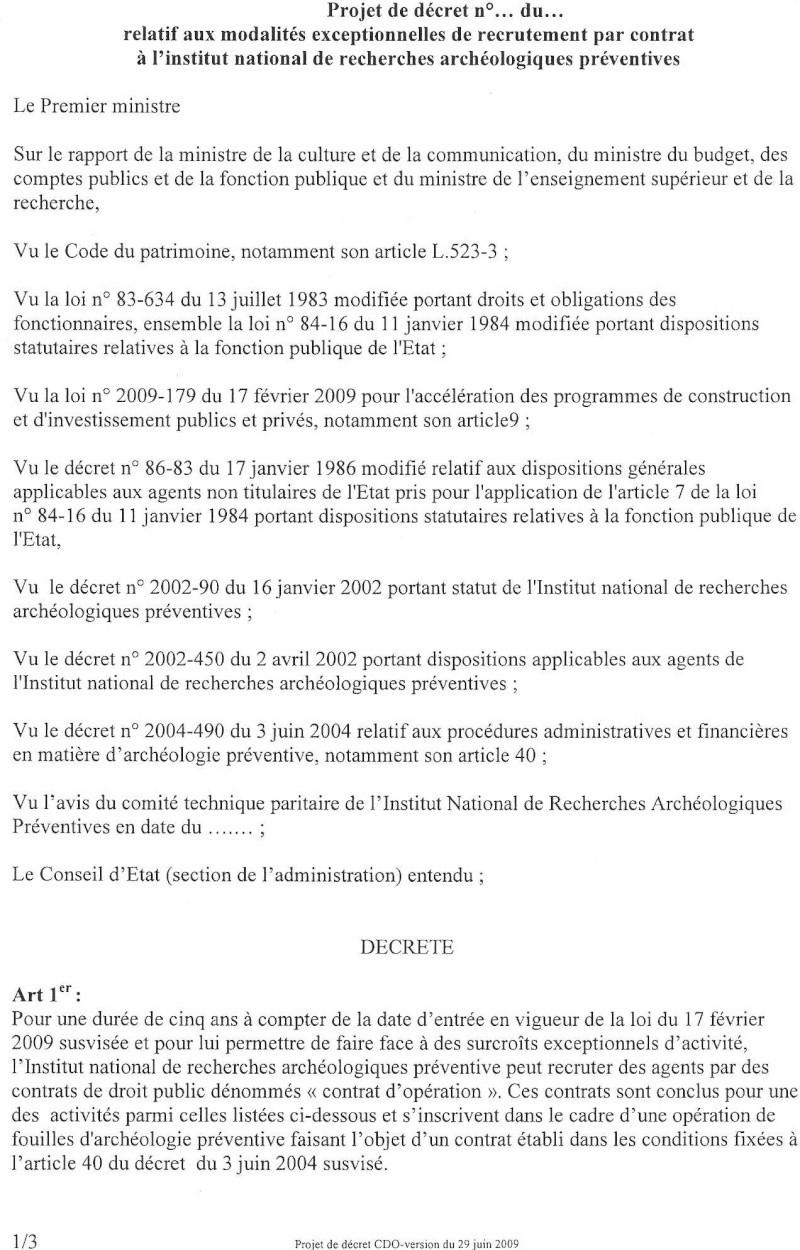 Projet définitif de décret d'application du CDO Dacret14
