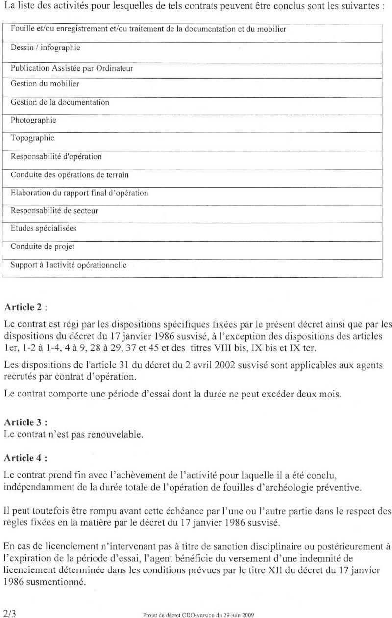 Projet définitif de décret d'application du CDO Dacret15
