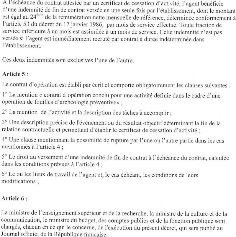 Projet définitif de décret d'application du CDO Dacret16