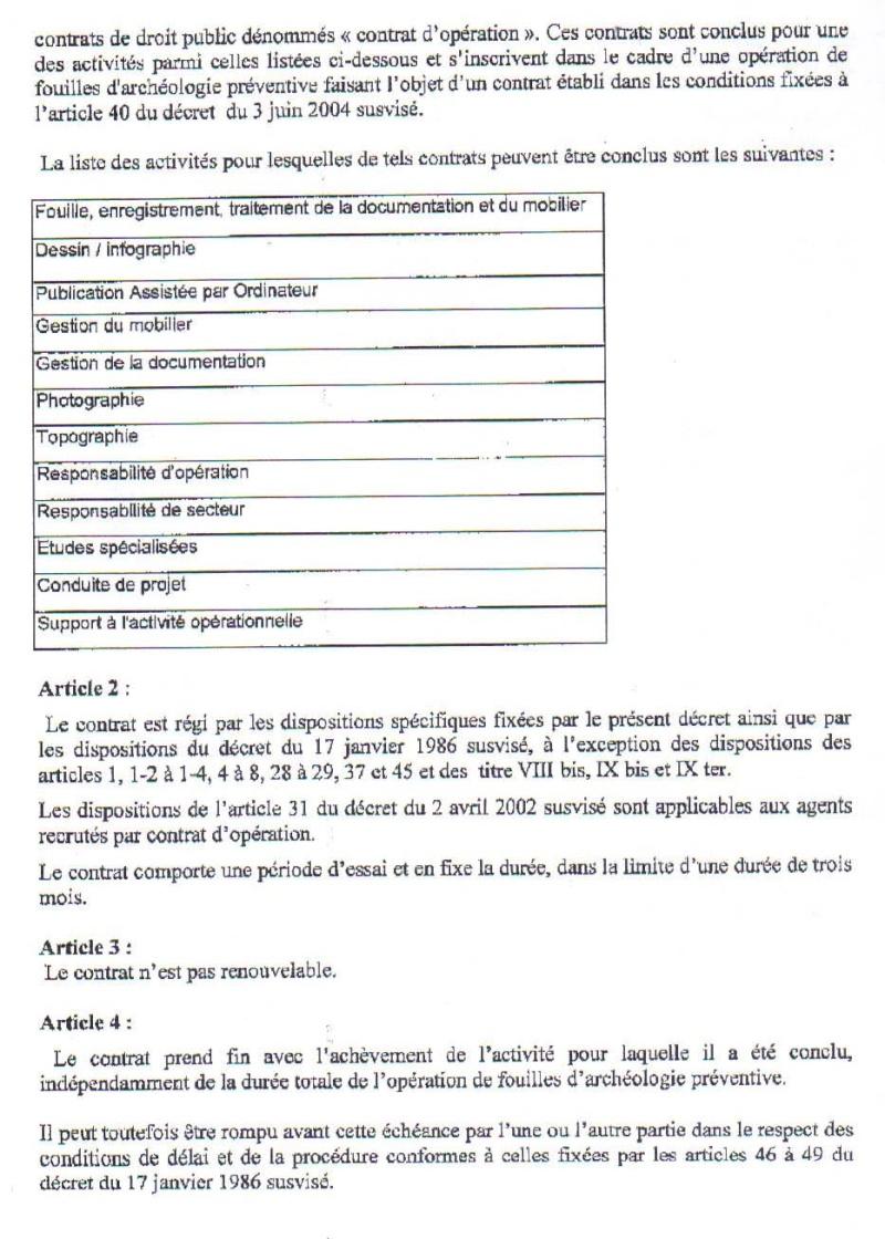 Projet de décret sur le contrat d'opération Projet13