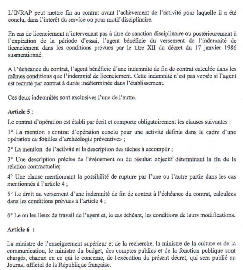Projet de décret sur le contrat d'opération Projet14