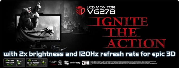 FS/FT- 5* Asus 3D LED 120Hz Monitor VG278H 1b495910
