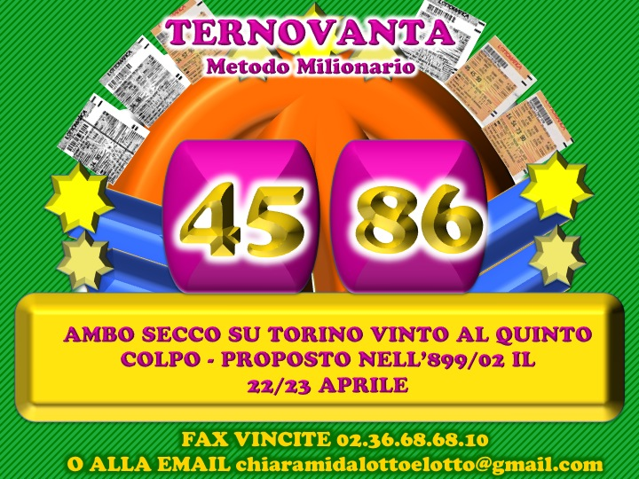 GChiaramida Premium: - TERNOVANTA - AMBO SECCO O IN TERZINA 67-90 SU PALERMO (23/7) Diapos23