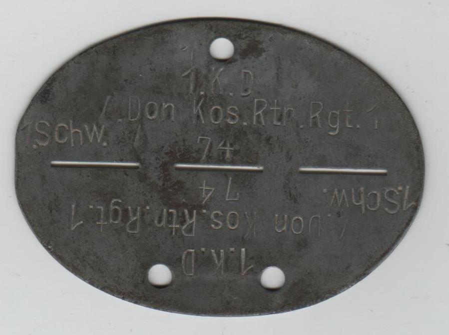 Plaque osttruppen du Don. 00173
