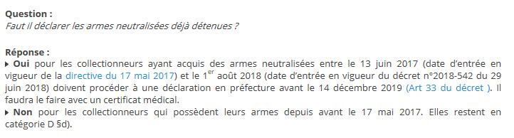 Armes neutralisées Captur16