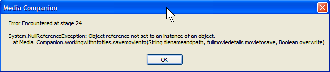 """""""Error Encountered at state 24""""  - While scrapping dropped file Stage_10"""