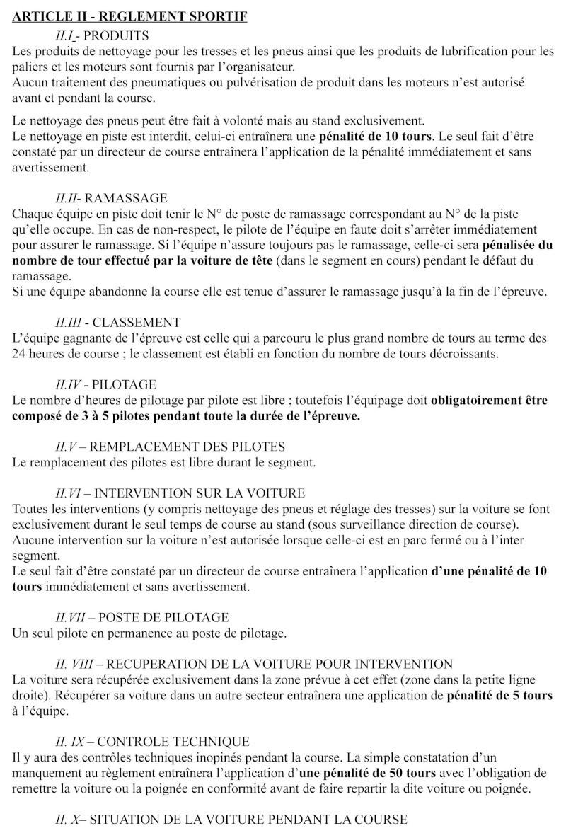 24 HEURES DE BORDEAUX 21-22 NOVEMBRE Reglem11