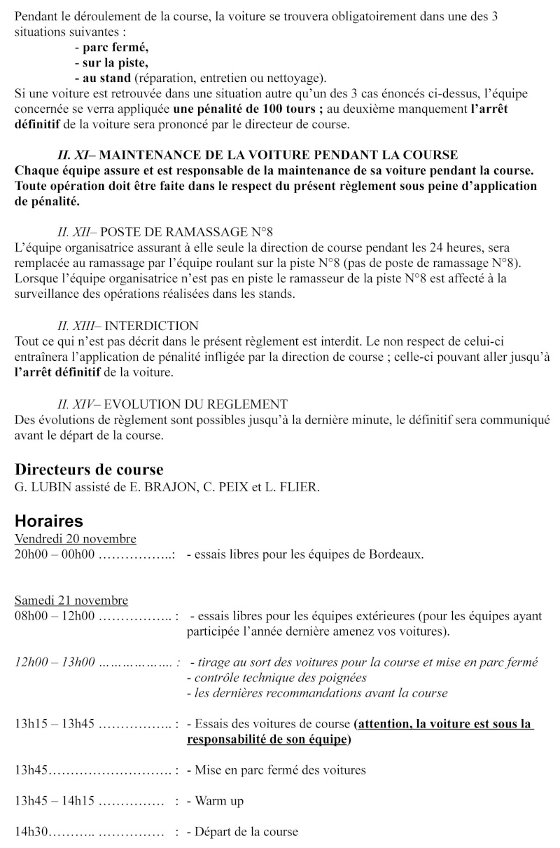 24 HEURES DE BORDEAUX 21-22 NOVEMBRE Reglem12