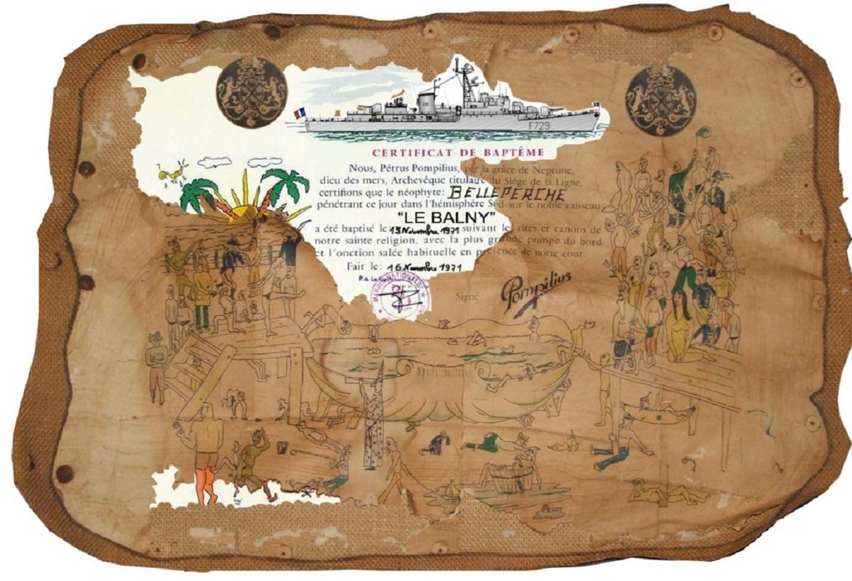 [ Les traditions dans la Marine ] LE PASSAGE DE LA LIGNE - ÉQUATEUR (Sujet unique) - Page 13 Diplom10