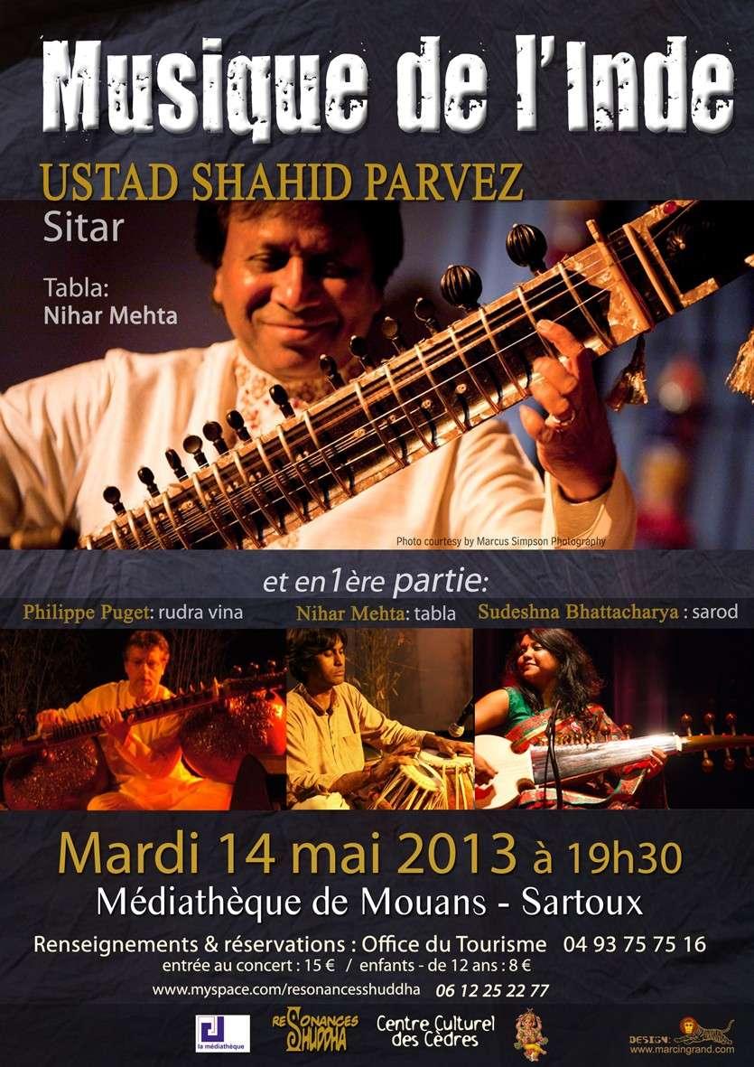 Concert de musique de l'Inde à Mouans-Sartoux 15-05-2013 Affich10