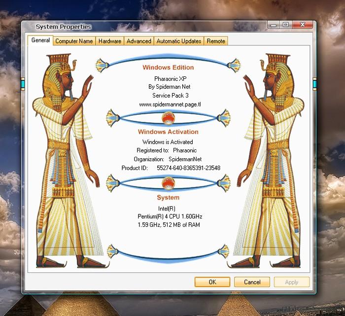 الويندوز الجديد و الجميل للغايه ويندوز الفراعنه Pharaonic XP Sysdmq10