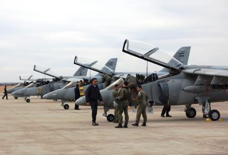 EL ESCUADRÓN I IA-63 PAMPA II ARRIBÓ A LA V BRIGADA Pampas10
