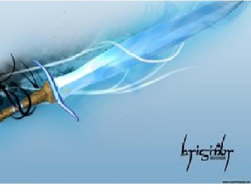 blue flameing sword Brisin16