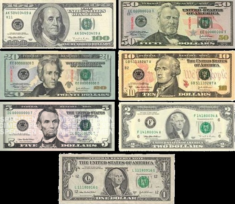 Bills and Coins Usdnot10