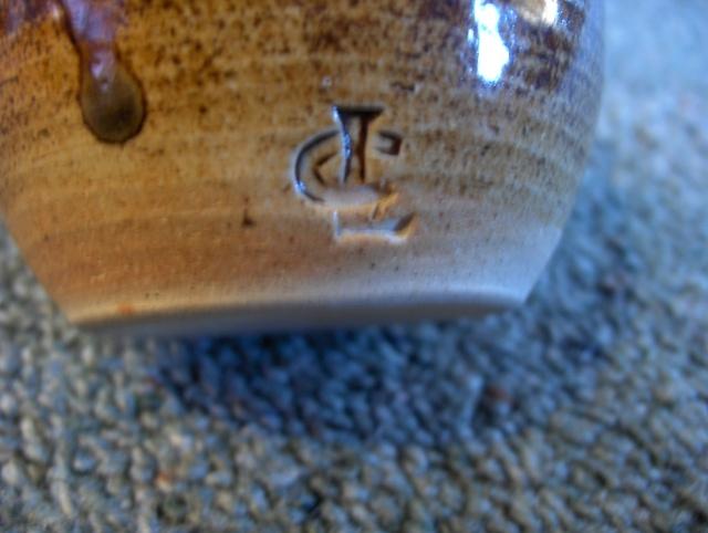 Len castle mug / cup ? No it's not his mark it belongs to Chris Lewis Hpim6217