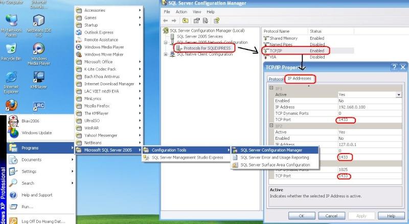 Cách kết nối Java với SQL server Port10