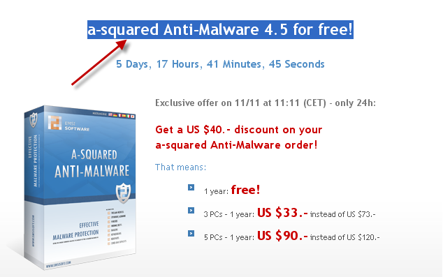a-squared Anti-Malware 4.5 for free! 05-11-10