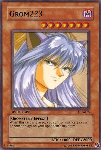 AF Yu-Gi-Oh Cards Grom2210