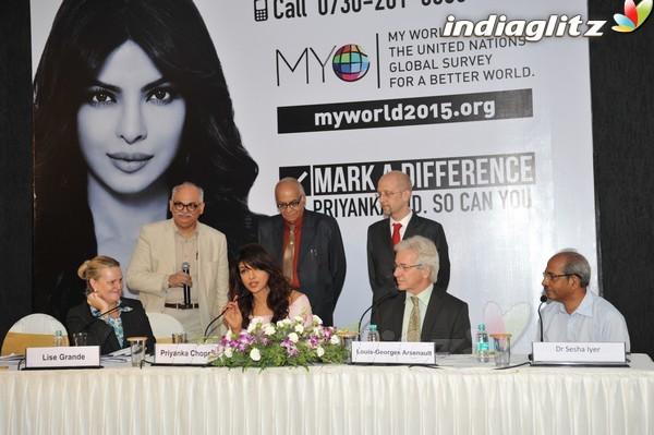 Priyanka Launches UNICEF's Mobile Application Pri28011