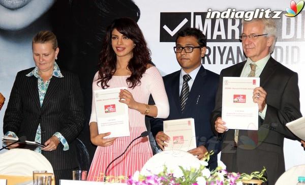 Priyanka Launches UNICEF's Mobile Application Priyan13