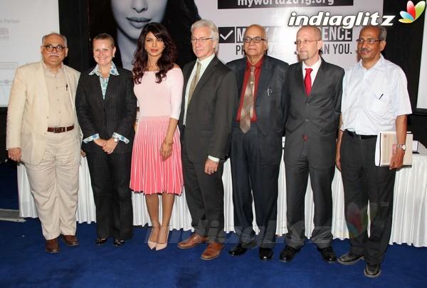 Priyanka Launches UNICEF's Mobile Application Priyan15