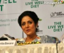 Sridevi Launches Live Well Diet Book Book2013