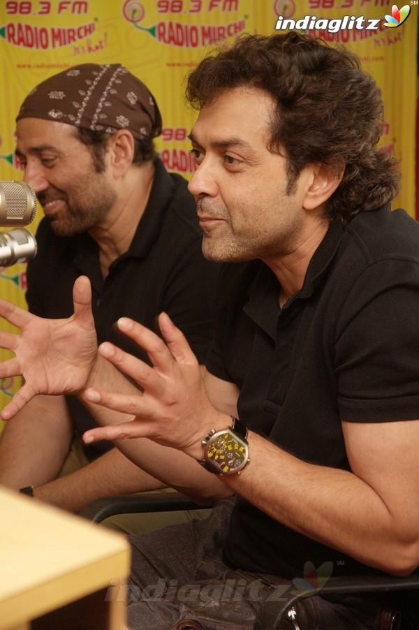 'Yamla Pagla Deewana 2' Promotion At Radio Mirchi Yama1723