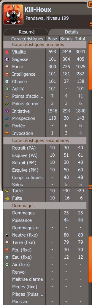 Kill - Panda d'attaque - 199. Stats10