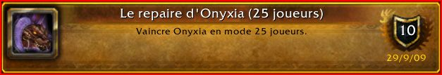 Guilde World of Warcraft La main des Braves - Bienvenue Onixia11
