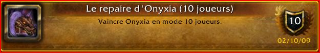 Guilde World of Warcraft La main des Braves - Bienvenue Onyxia13