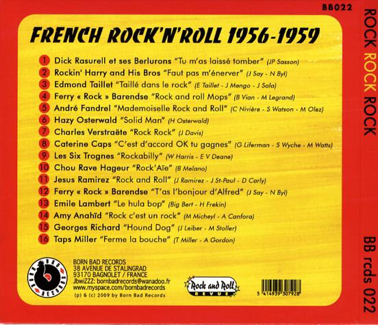 Rock, Rock, Rock French Rock'n'Roll 1956-1959 Backfr10