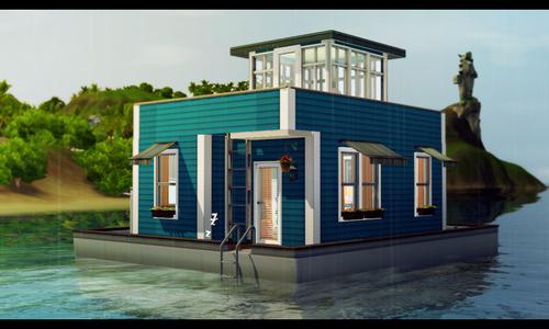 [Inspiration] [Sims 3] Maisons-bateaux Tumblr10