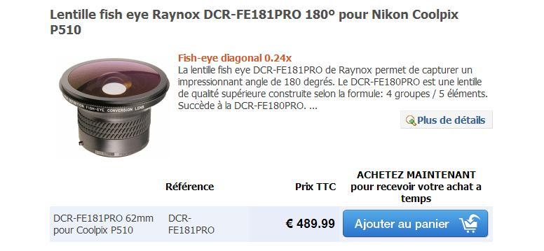 Lentilles pour Nikon coolpix P510 Lentil12