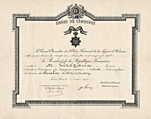 Ordres de la France Coloniale et outre Mer Cambod11