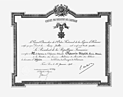 Ordres de la France Coloniale et outre Mer Dragon11