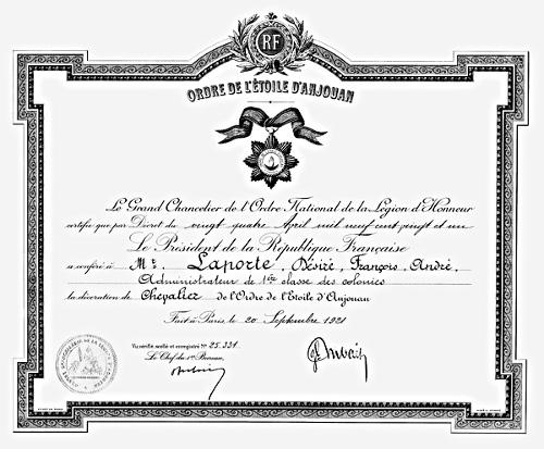 Ordres de la France Coloniale et outre Mer Etanjo10