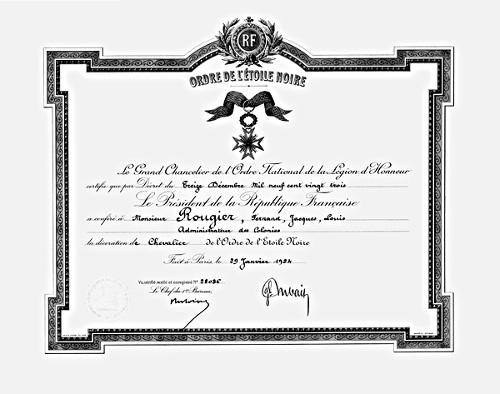 Ordres de la France Coloniale et outre Mer Etnoir10