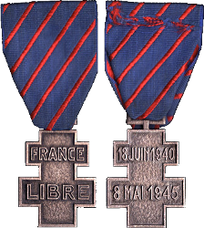 Médaille des Services Volontaires dans la France Libre France10