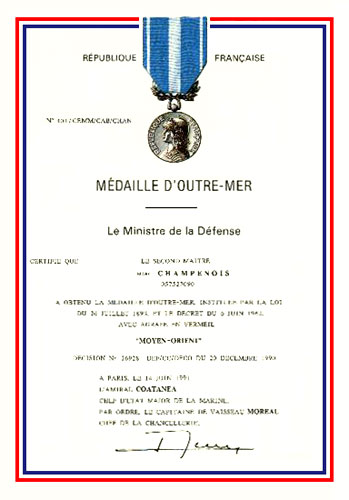 La Médaille d'Outre-Mer Omdip10