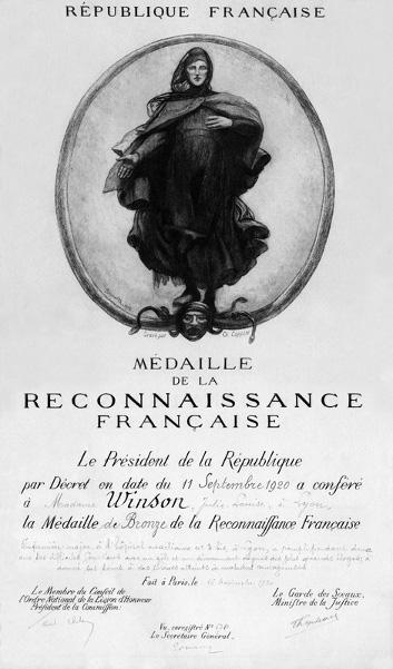 Médaille de la reconnaissance Francaise Recofr10