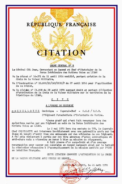 Médaille de la Valeur Militaire Valmil12