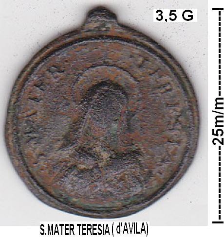 Médaille Jésus & Ste-Thérèse-d'Avila - XVIIème Iesus_10